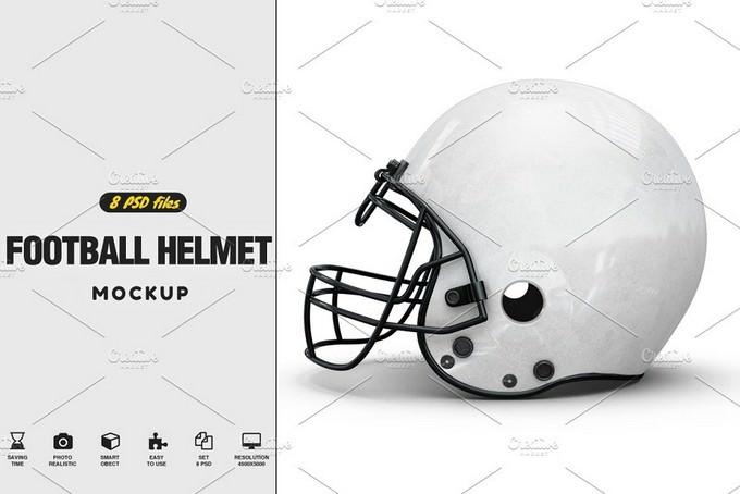 Football Helmet Mock-up PSD