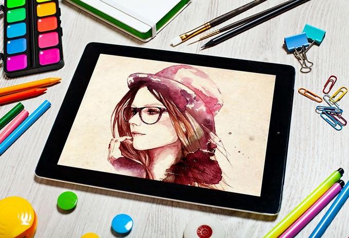 Artist Tablet Mockup PSD