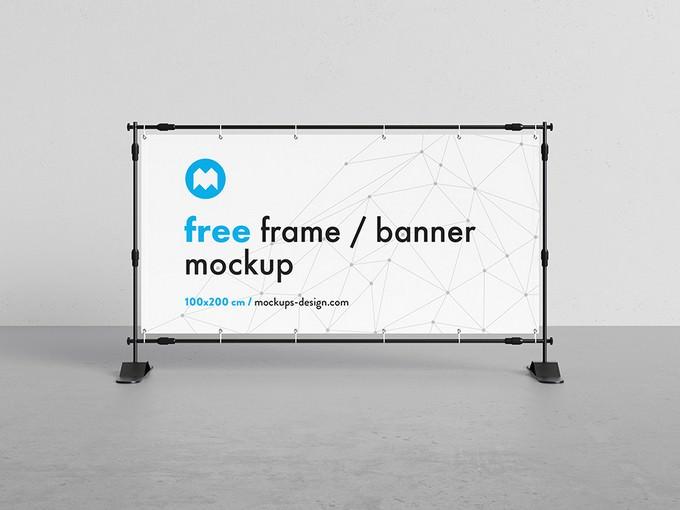 Banner Frame Stand Mockup