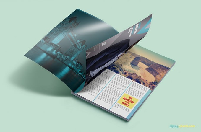 Customizable Magazine Ad PSD Mockup