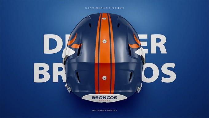 Football Helmet Mockup PSD Template