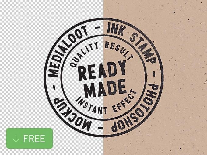 Ink Stamp Photoshop Mockup