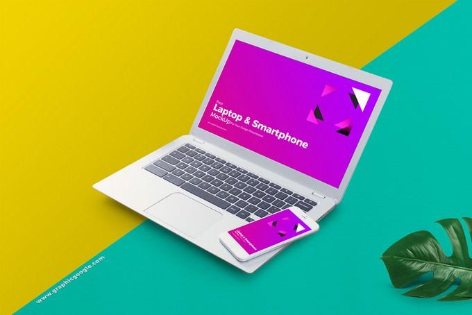 Laptop & Smart Phone Mockup
