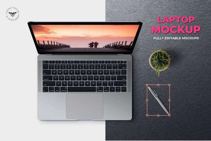 Fully Editable Laptop PSD