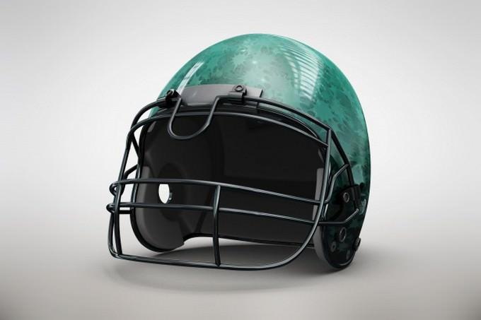 Green Helmet Mock up PSD