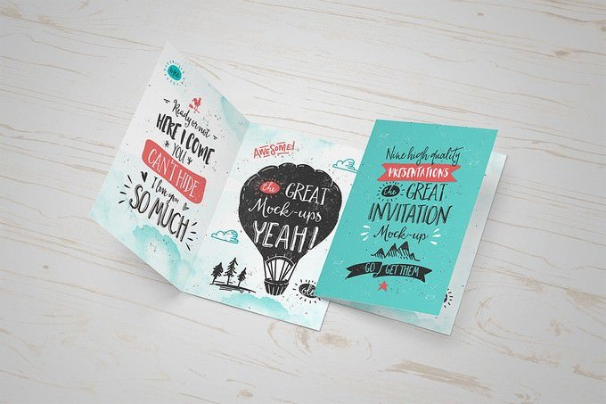Greeting Card Mock-Up PSD