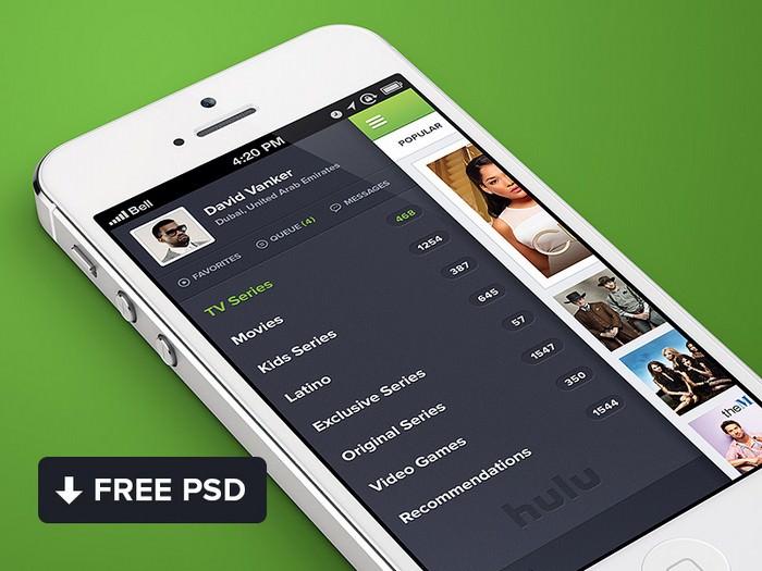 Hulu iPhone App Design