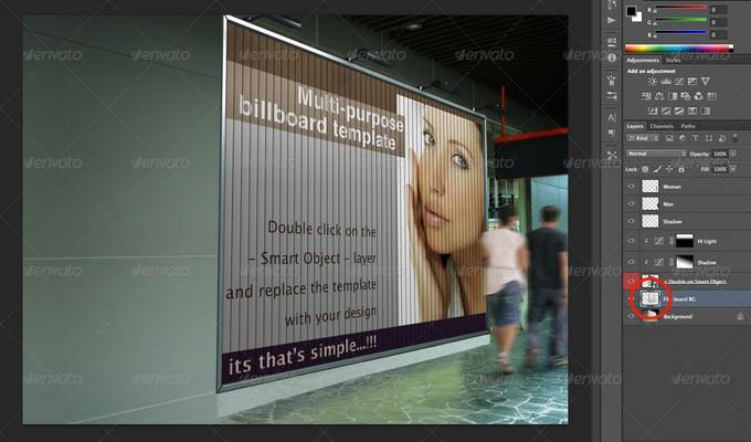 Indoor Signage Display Mock Up PSD