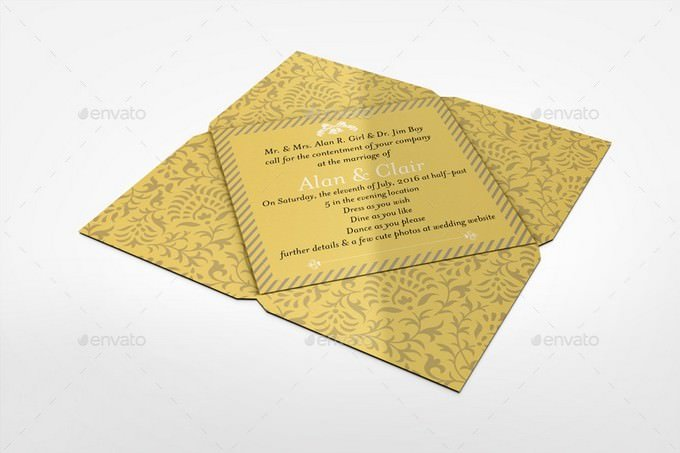 Invitation and Greeting Card Mockup Template