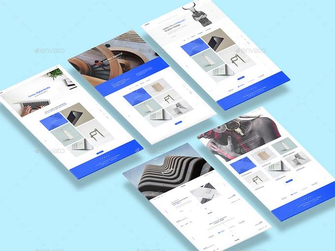 Isometric Web n App PSD