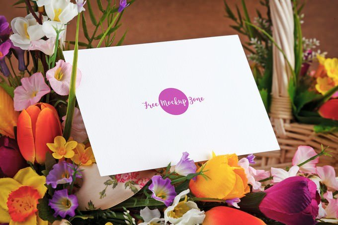 Lovely Mothers Day Greeting Card Mockup