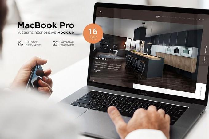 MacBook Pro Responsive PSD