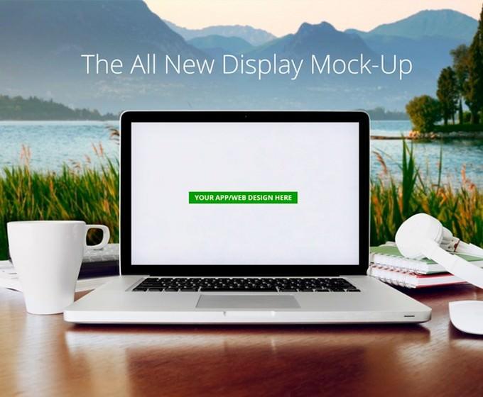 Macbook Pro - App Display Mock-Up