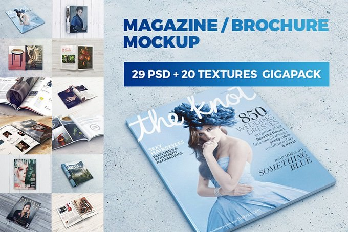 Magazine Brochure MockUp GigaPack