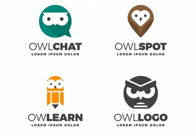 Modern owl Logo Collection