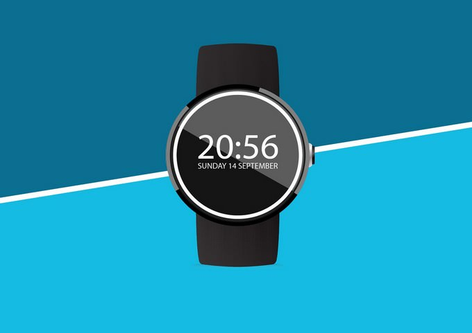 Moto 360 Wearable Device Mockup
