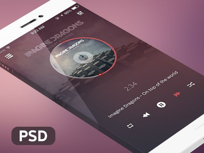 Music Player Mockup