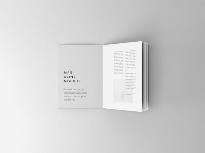 Overhead Booklet Mockup