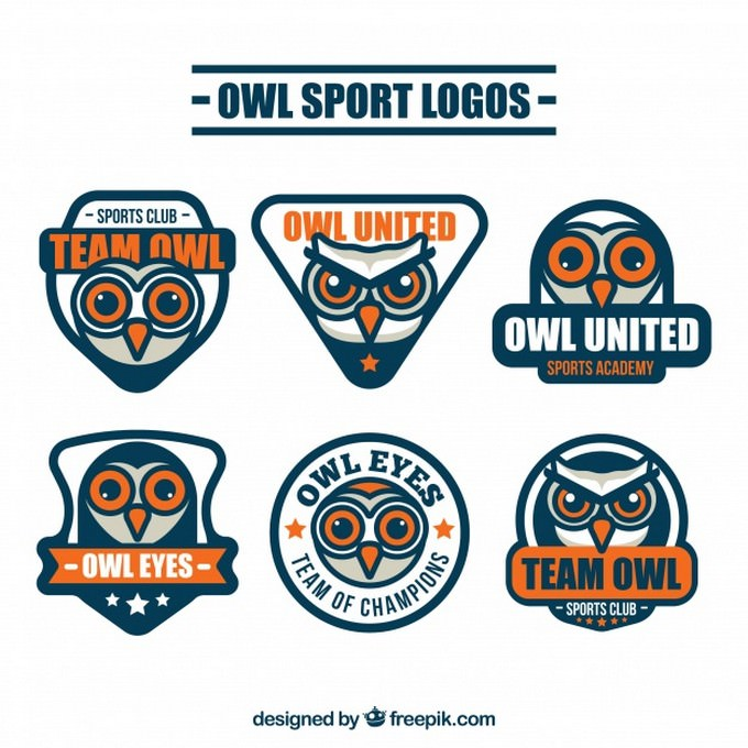 Owl Logo Collection of Six