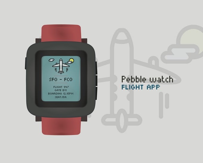 Pebble Time Vector Mockup