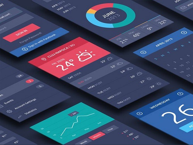 Perspective App Screens PSD