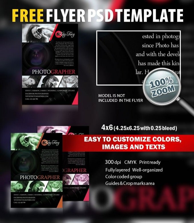 Photographer Flyer PSD
