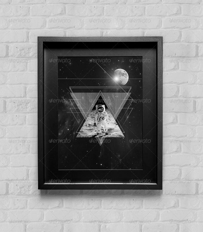Poster Frame Mock-Up PSD