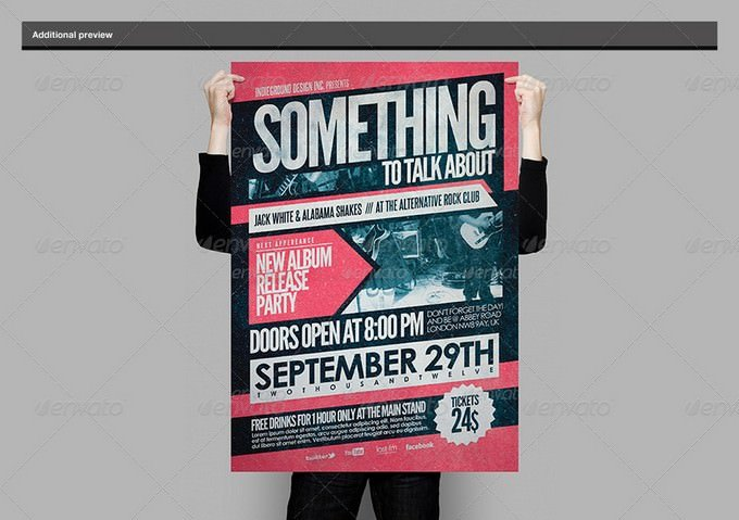 Poster Holding Mock-Up PSD