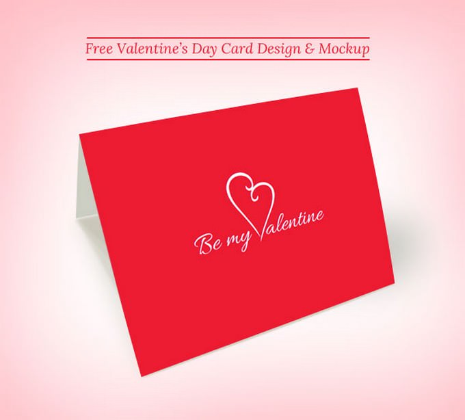 Printable Valentine's Day Card Design