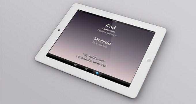 Psd iPad Perspective PSD