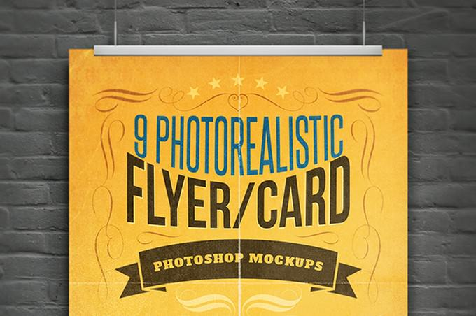 Realistic Flyer Mockup PSD