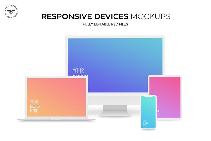 Responsive Digital Devices Mockup