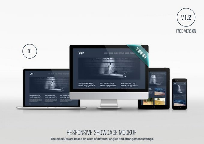 Responsive Showcase Device PSD