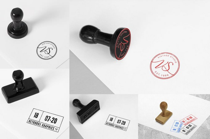 Rubber Stamps Mock Up PSD