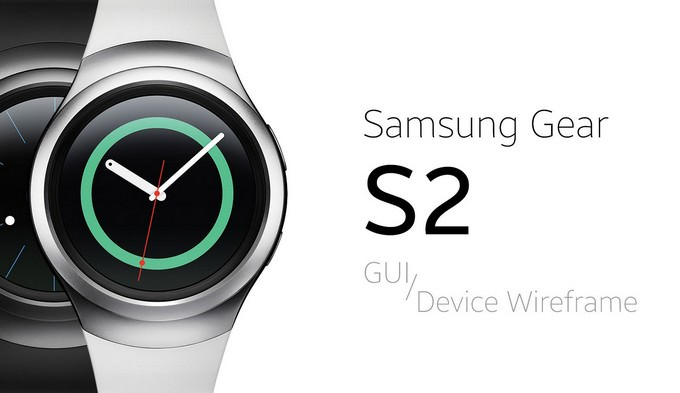 Samsung Gear S2 GUI & Device Wireframe