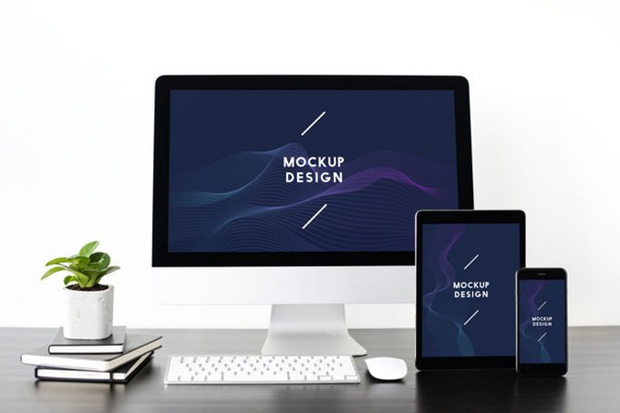 Digital Devices Mockup PSD Screen