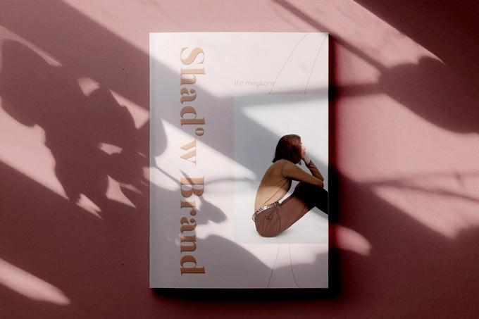 Shadow Brand Magazine Mockup PSD