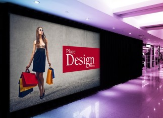 Shopping Mall Billboard PSD