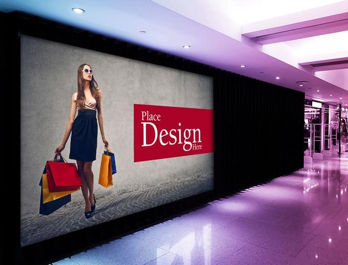 Shopping Mall Billboard PSD