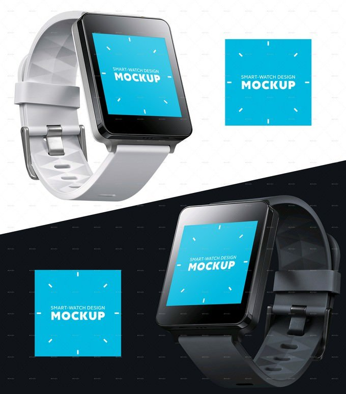 Smart Square Wearable Device Mockup