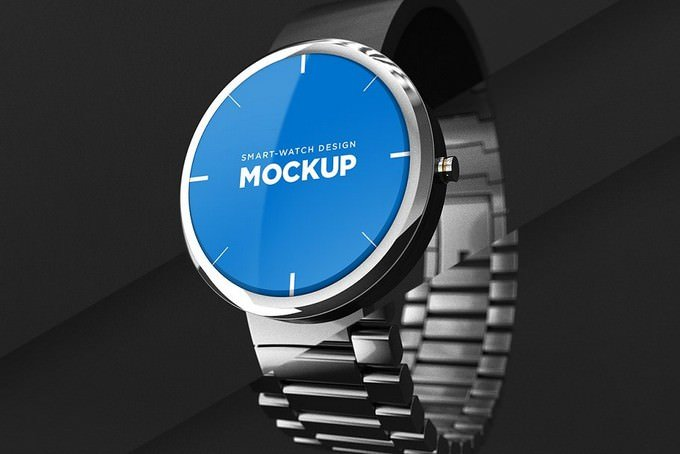 Smart-Watch Design Mockup PSD