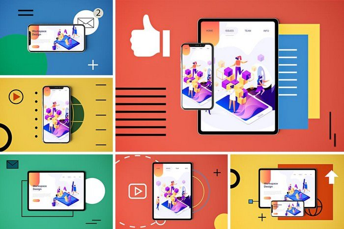 30+ Best Mobile App Mockups PSD Template 2019 - Templatefor