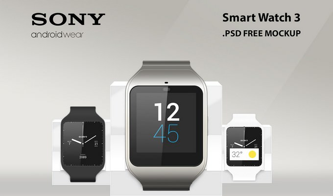 Sony Smart Watch 3 Mockup