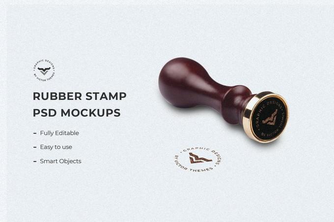 Stamp Mockup Template PSD