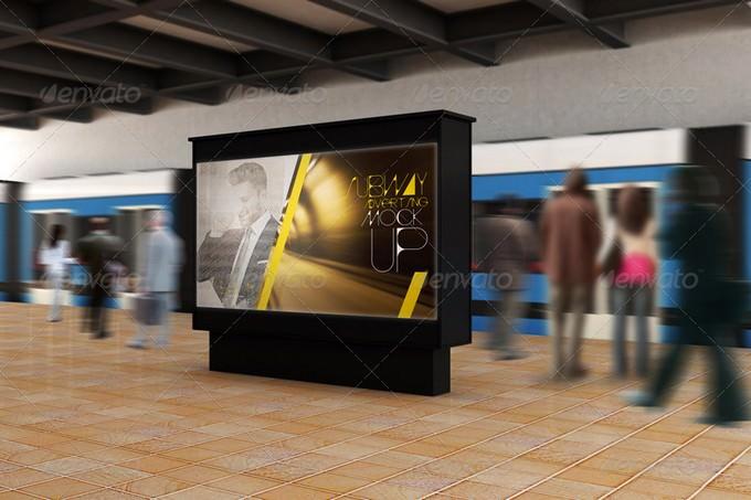 Subway Advertising PSD