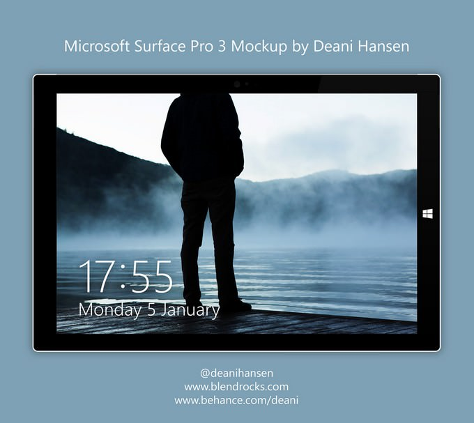 Surface Pro 3 PSD