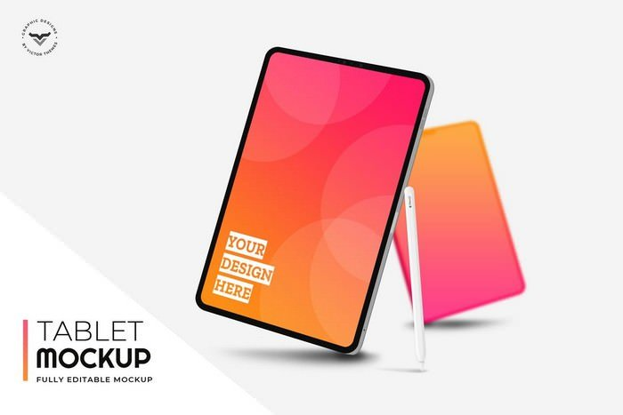 Tablet Mockups PSD Template