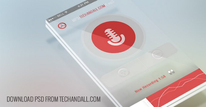 Translucent Perspective Mobile Mock-up