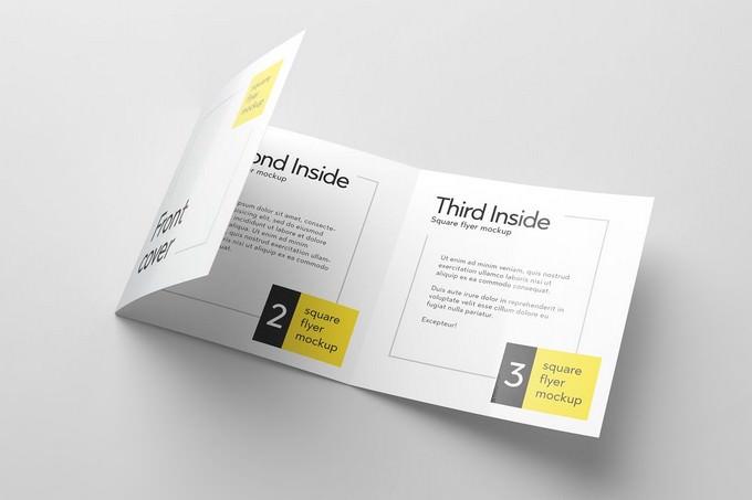 Tri-Fold Square Flyer