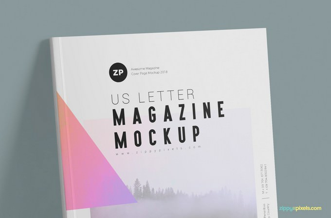 Two US Letter Magazine Mockups